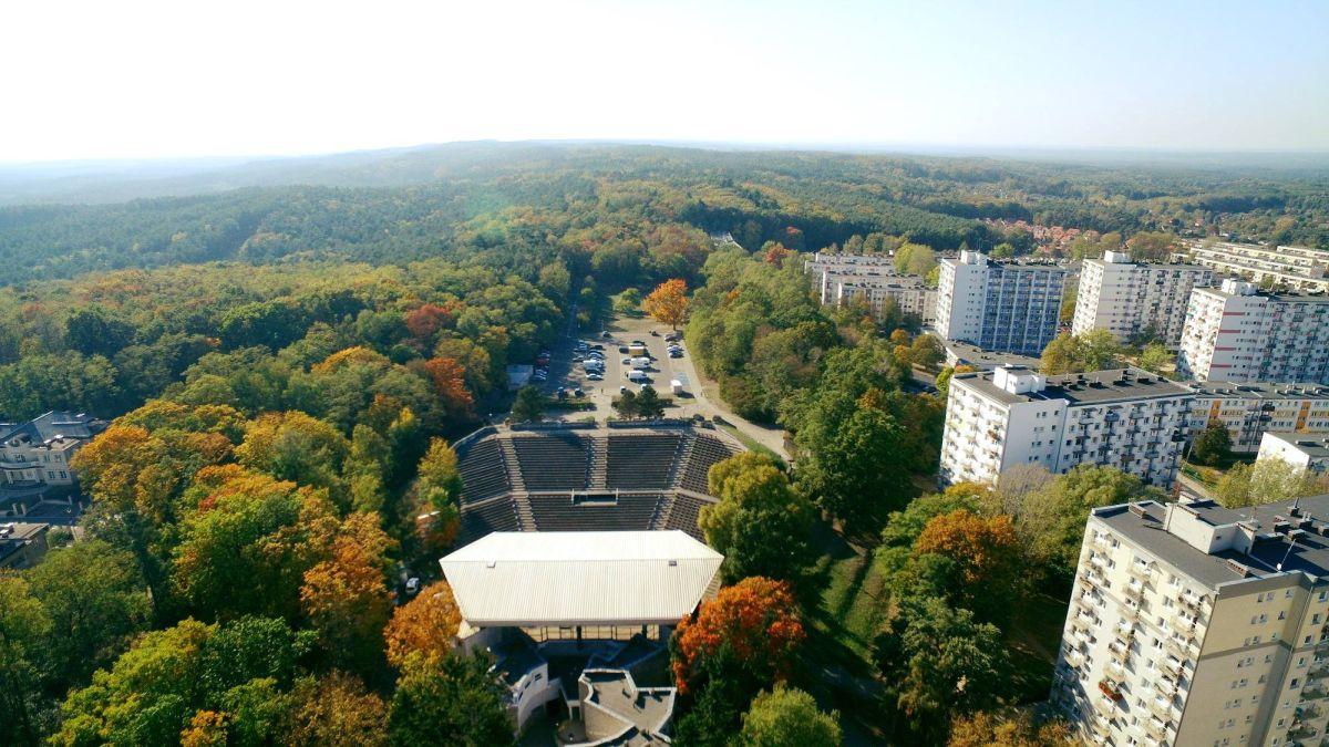 wzgórza piastowskie zielona góra jesienią